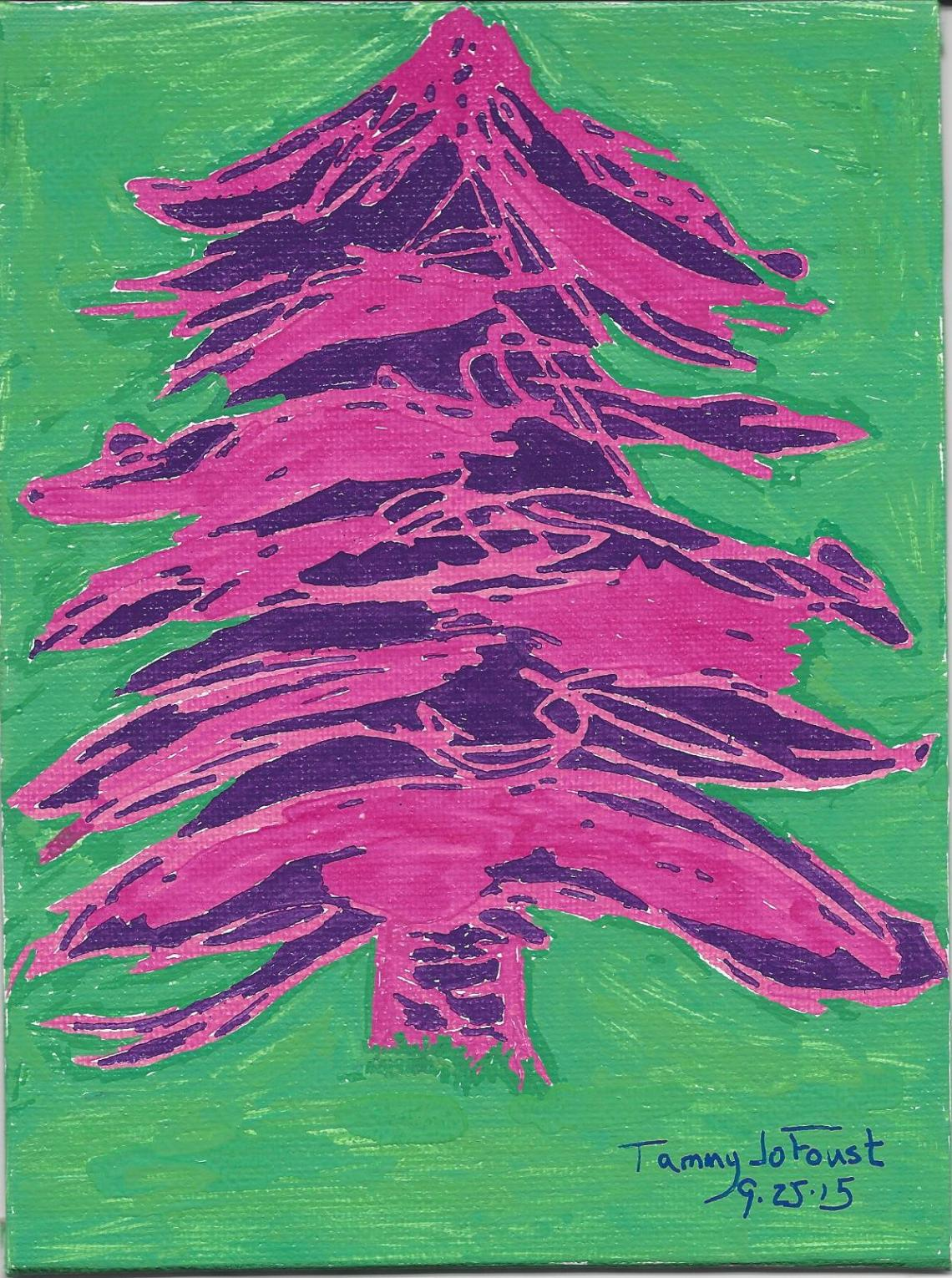 purple-evergreen-acrylic