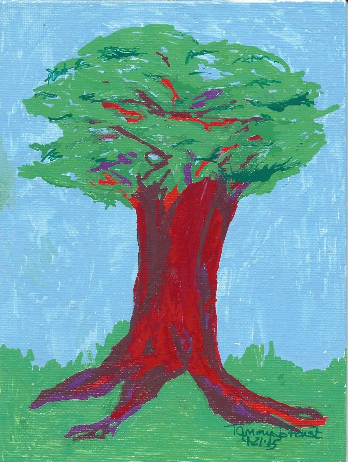 red-tree-with-blue-sky